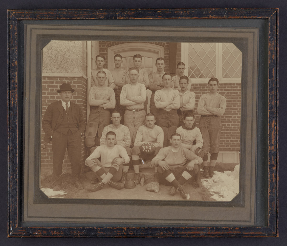 Gilman High School Championship football team Framed Photograph, 1921