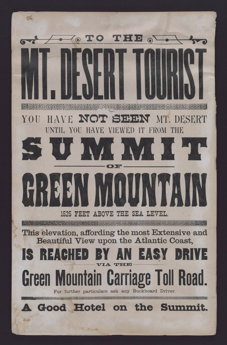 Summit of Green Mountain Poster, c. 1880s