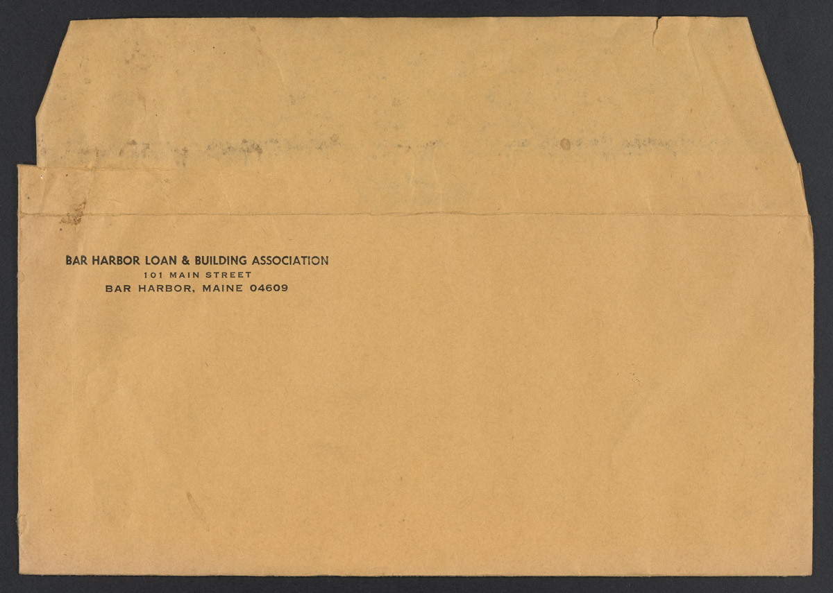 Bar Harbor Loan & Building Association Envelope