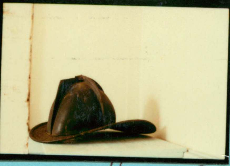 Hat, Black Fireman's Leather