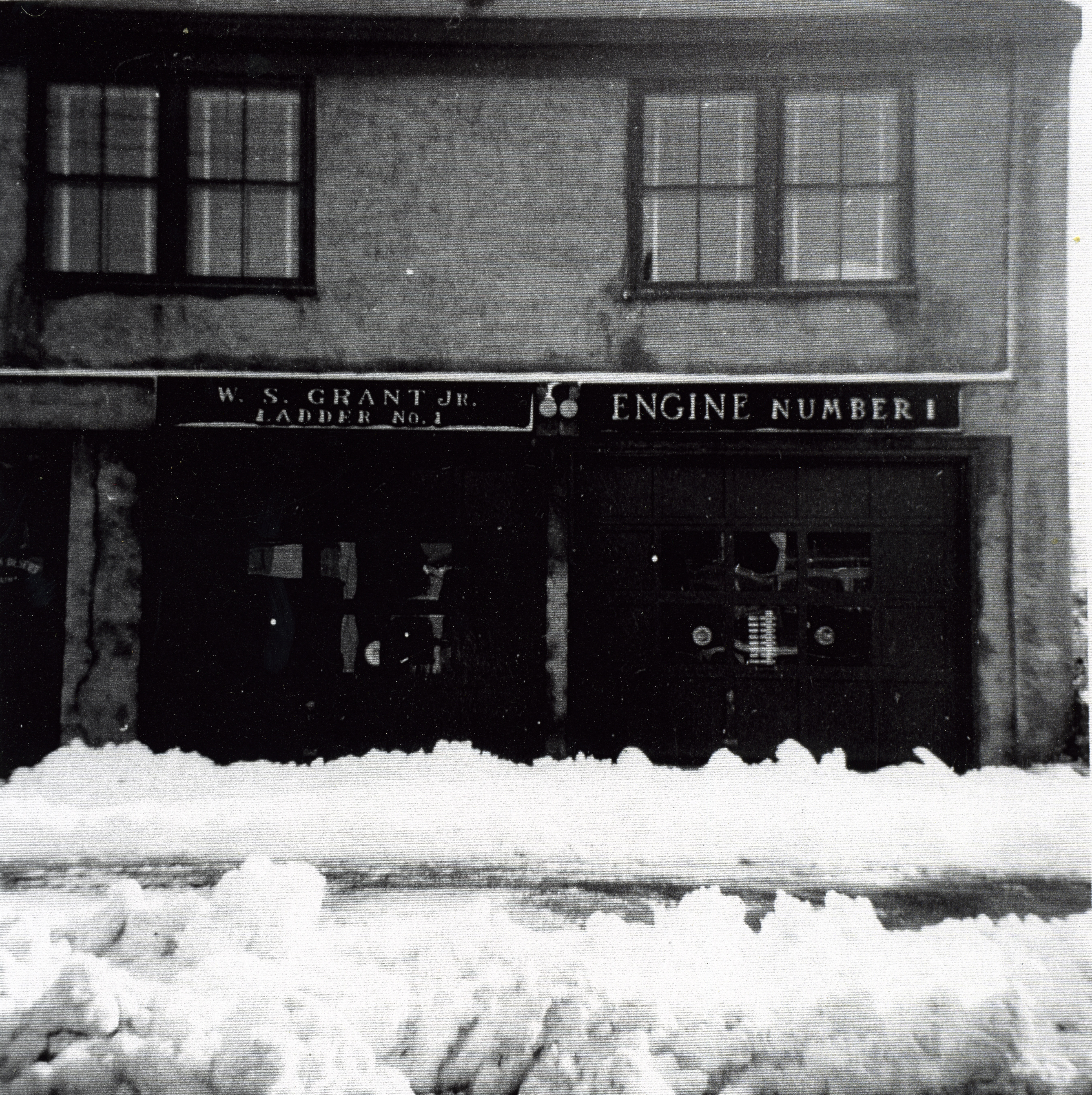 Northeast Harbor Fire House, Winter of 1954