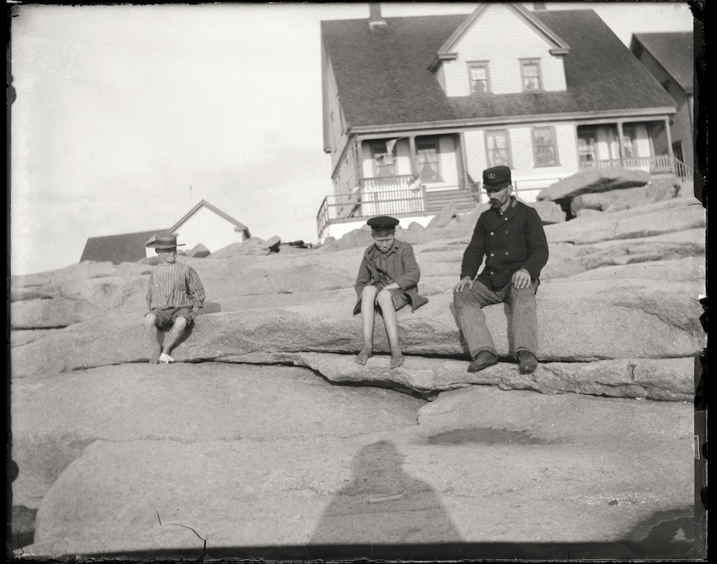 Glass Plate Negative, Mount Desert Rock