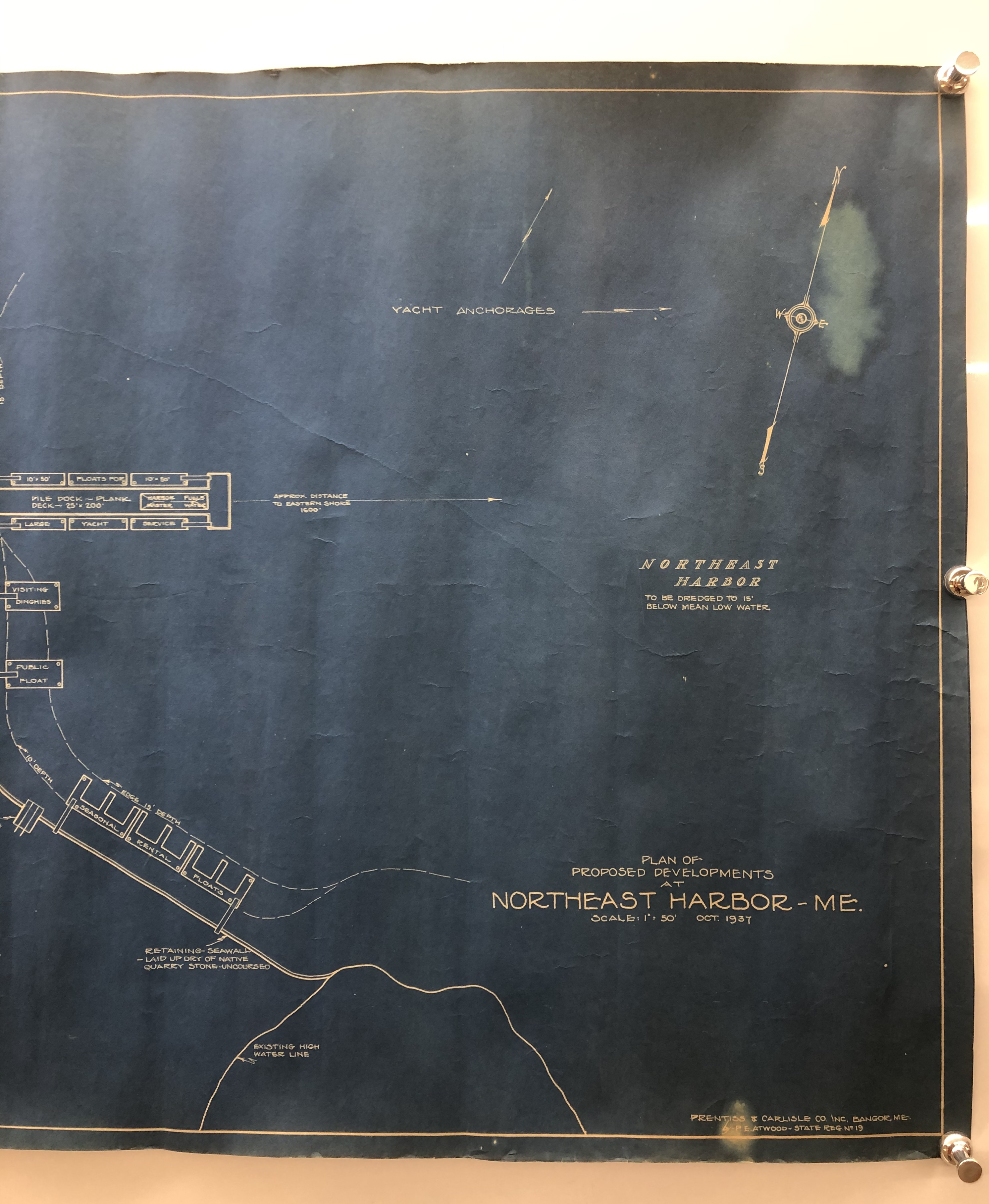 Plan of Proposed Developments at Northeast Harbor