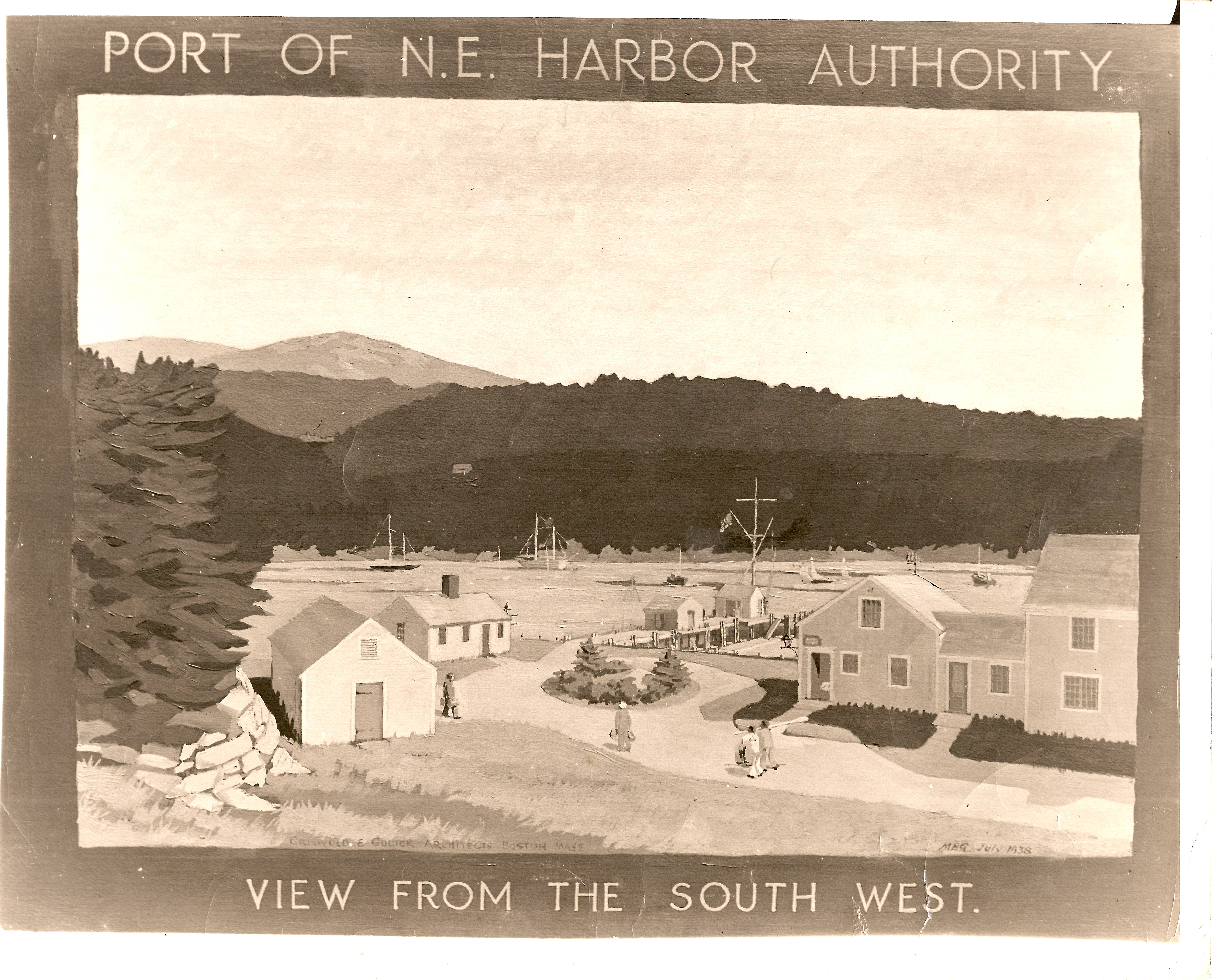 N.E. Harbor Authority, View from South West